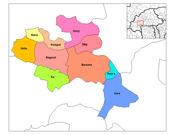 Bana Department location in the province