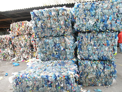 Bales of PET bottles 2
