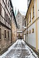 Bamberg, Domstraße, Nach Osten, Domquerhaus-20170102-001.jpg