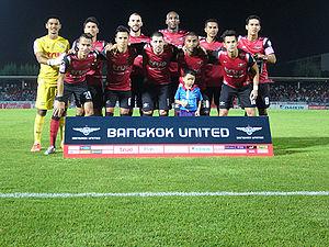 Bangkok United F.C. - Bangkok United in 2015 ahead of the game against Muang Thong United