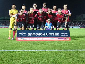 Bangkok United F.C. - Bangkok United in 2015 ahead of the game against Muangthong United
