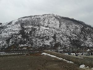 Banihal - Hill named Kamirwah in Banihal town (photograph taken from Banihal railway station)