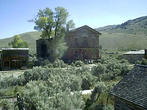 Bannack, Montana, a well preserved ghost town that is now a State Park.