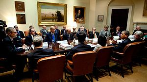 Roosevelt Room - Obama administration meeting in the Roosevelt Room