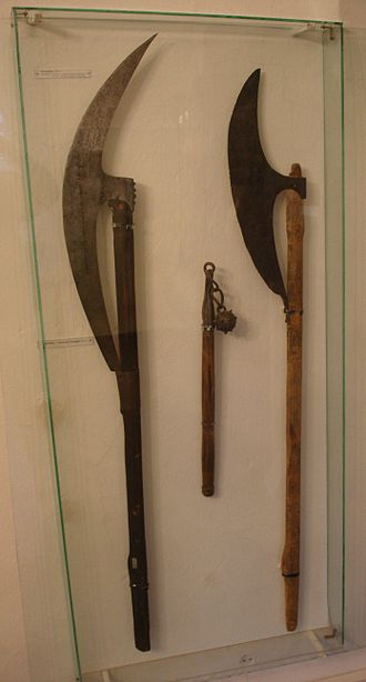 Bardiche - Two examples of a bardiche