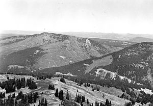 Barlow Peak - From Mount Hancock, 1967