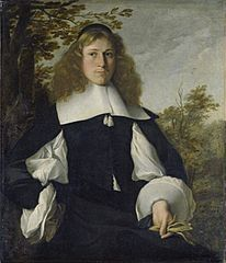 Portrait of a young man at half length