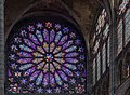 Basilica of Saint Denis North Transept Rose Window, Paris, France - Diliff.jpg