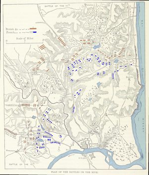 Battle of the Nive - Map shows the Battle of the Nive.
