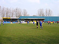 Bedford Town FC's ground, Meadow Lane, Bedford - geograph.org.uk - 386251.jpg
