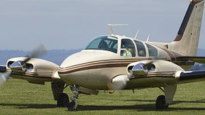Beech Baron 30th June 2013 (9215816515).jpg