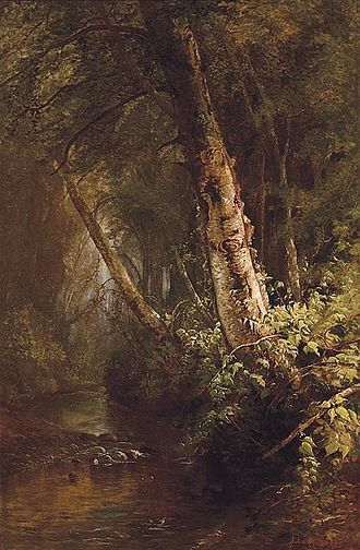 Julie Hart Beers - Julie Hart Beers, Forest Interior, 1876.
