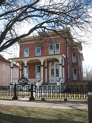 National Register of Historic Places listings in Ontario County, New York - Image: Benham House