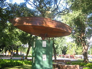 San Antonio, Paraguay - Statue honoring Don Benigno Arrua.