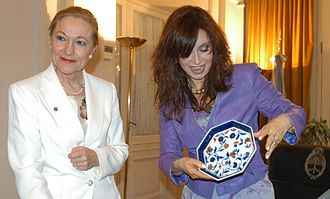 High Representative of the Union for Foreign Affairs and Security Policy - The External Relations Commissioner (Benita Ferrero Waldner, left, with Argentinian President Cristina Kirchner in 2006) was merged with the High Representative under the Lisbon Treaty