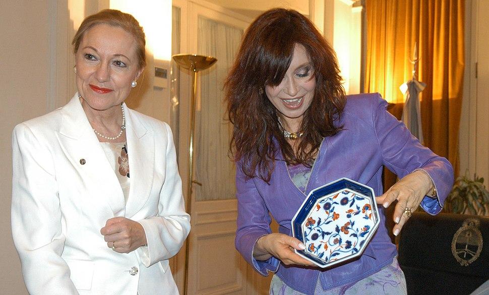 Benita Ferrero Waldner and Cristina Kirchner