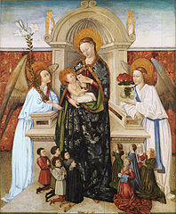 Virgin and Child, Angels and Family of Donors