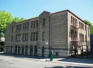 Beth Israel School - West face of the building in 2011