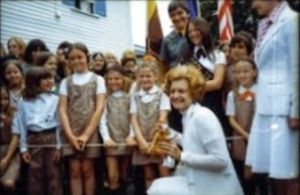 Scouting in Massachusetts - Image: Betty Ford with Girl Scouts