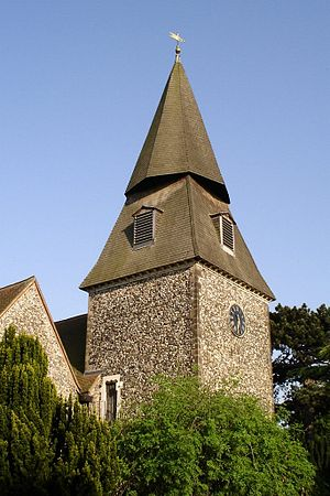 Bexley - The distinctive spire of St. Mary's Church