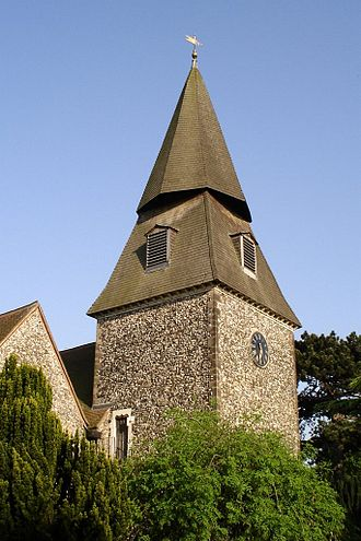 London Borough of Bexley - The distinctive spire of St Mary the Virgin Church in Bexley