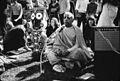 Bhaktivedanta Swami with Jagannath in Golden Gate Park, February 1967.jpg