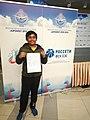 Bharath Subramaniyam with his Maiden GM Norm Certificate.jpg