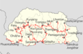 Bhutan highways labeled location map.png