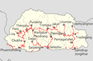 Lateral Road road in Bhutan