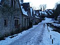 Bibury after snowfall at dusk - geograph.org.uk - 1158865.jpg