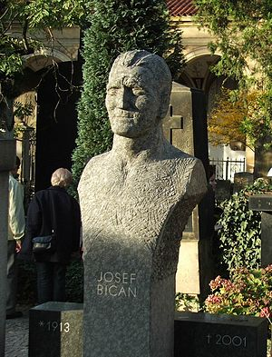 "Josef Bican - Tombstone of Josef ""Pepi"" Bican at Prague's Vyšehrad cemetery"