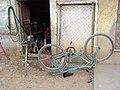 Bicycle on Sidewalk - El Alto - Bolivia (3776206517).jpg