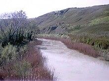 Il fiume Biferno visto dalla SS 647.