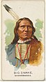 Big Snake, Winnebagoes, from the American Indian Chiefs series (N2) for Allen & Ginter Cigarettes Brands MET DP827992.jpg