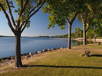 Big Stone Lake - Big Stone Lake from Ortonville's Lakeside Park