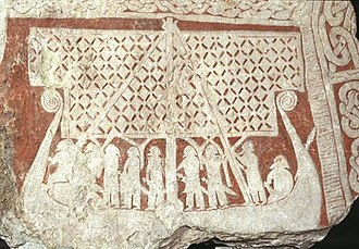 Sweden - A picture stone from 800-1099 Tjängvide, Gotland.