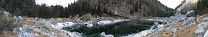 Black Lake (Triglav Lakes Valley) - Black Lake may freeze in winter.
