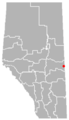 Blackfoot, Alberta Location.png
