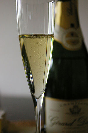 Image of a Blanc de Blancs Champagne made from...