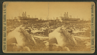 Great Flood of 1881 - A view of Yankton's riverfront after the flood of March 1881.