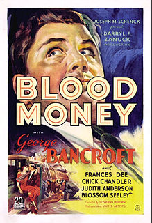 <i>Blood Money</i> (1933 film) 1933 American crime film by Rowland Brown