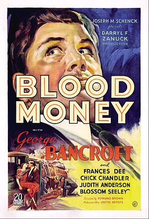 Blood Money (1933 film) - Image: Blood Money Film Poster