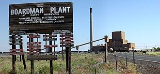 Boardman, Oregon - Coal plant outside of Boardman