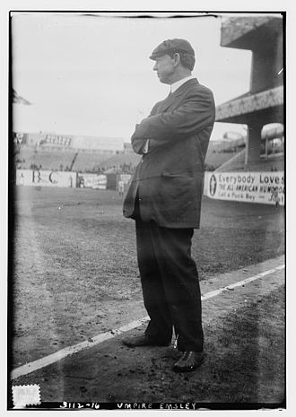 Bob Emslie - Emslie as an NL umpire in 1914