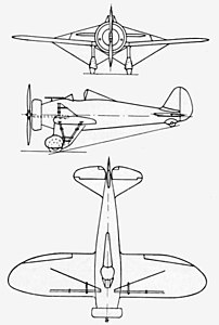 Boeing 281 3-view L'Aerophile March 1935.jpg