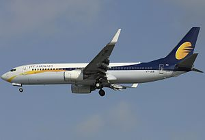Jet Airways - Jet Airways Boeing 737-800 wearing the current livery
