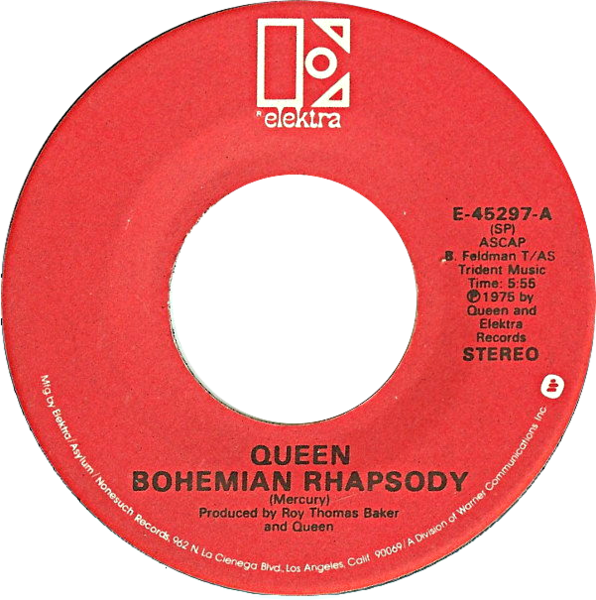 File:Bohemian Rhapsody by Queen US vinyl red label.png
