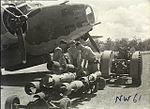 Bombing up 13 Squadron RAAF Hudson at Hughes NT Feb 1943 AWM NWA0059.jpg