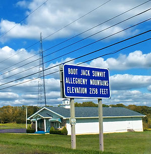 Ridgway Township, Elk County, Pennsylvania - Boot Jack Summit in the township