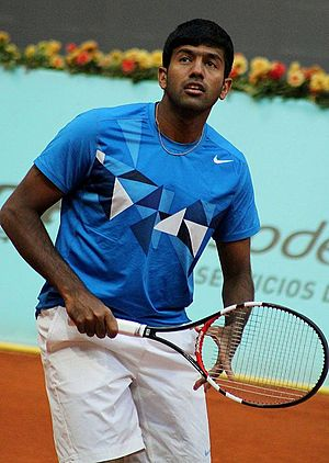 Rohan Bopanna - Rohan Bopanna on the court